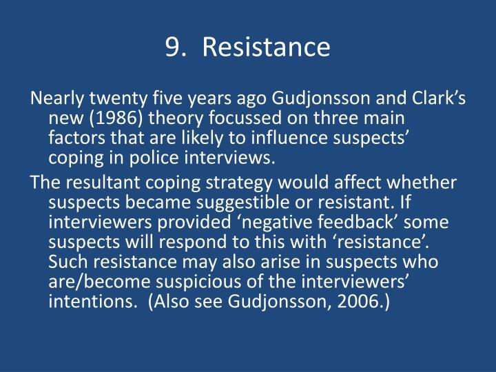 9.  Resistance