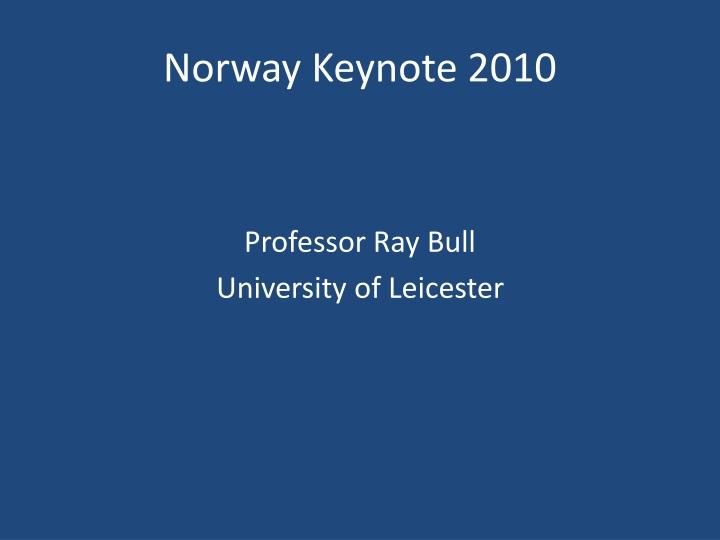 Norway keynote 2010