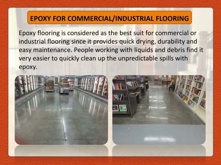 EPOXY FOR COMMERCIAL/INDUSTRIAL FLOORING