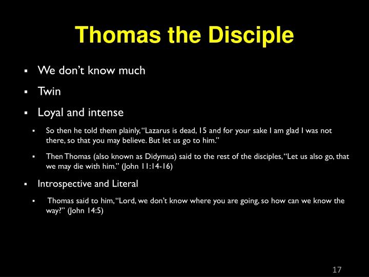 Thomas the Disciple