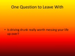 one question to leave with