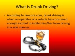 what is drunk driving