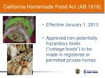 california homemade food act ab 1616