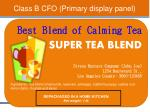 class b cfo primary display panel1