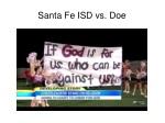 santa fe isd vs doe