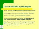 dave brailsford s philosophy