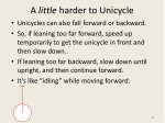 a little harder to unicycle