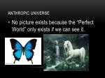 anthropic universe