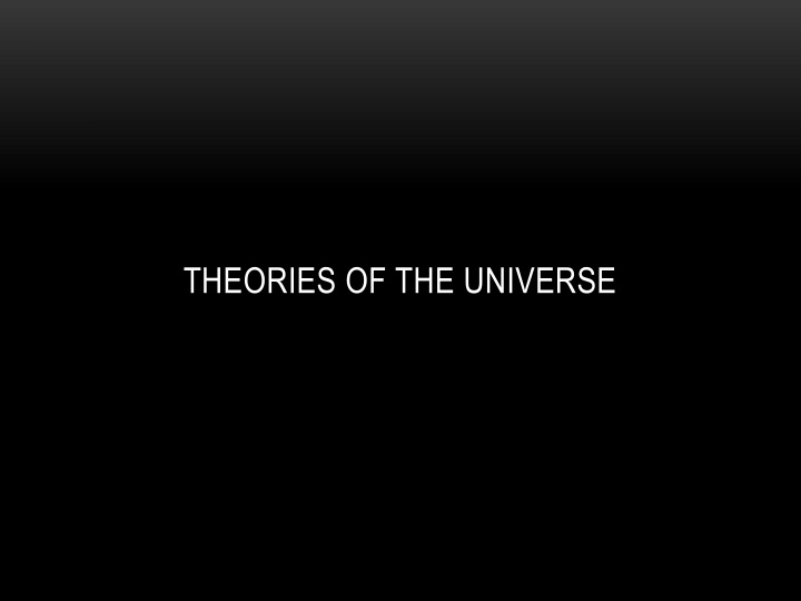 theories of the universe n.