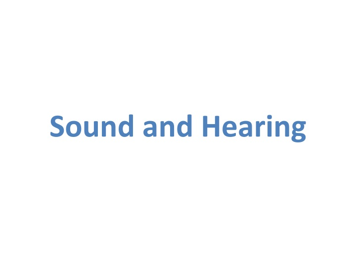sound and hearing n.