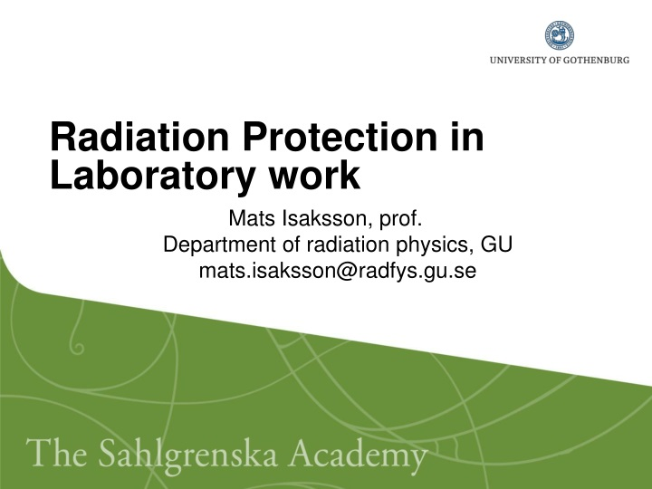 radiation protection in laboratory work n.
