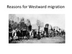 reasons for westward migration