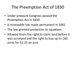 the preemption act of 1830