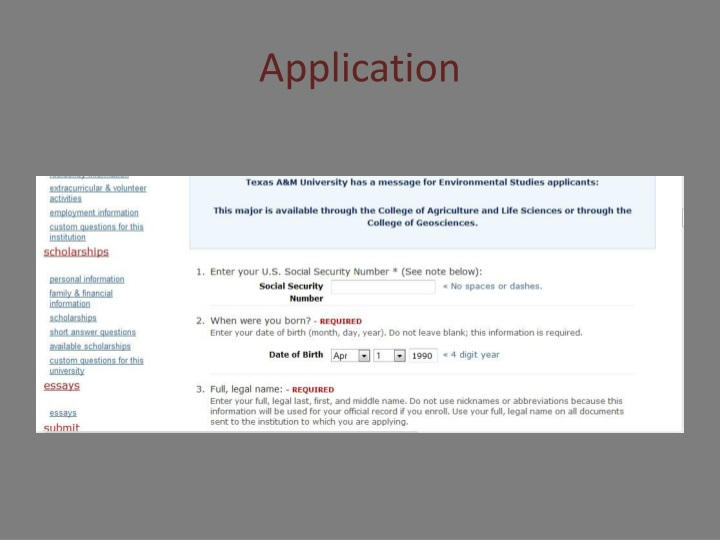 West Point Application Deadline >> PPT - Texas Southern University PowerPoint Presentation - ID:1529860