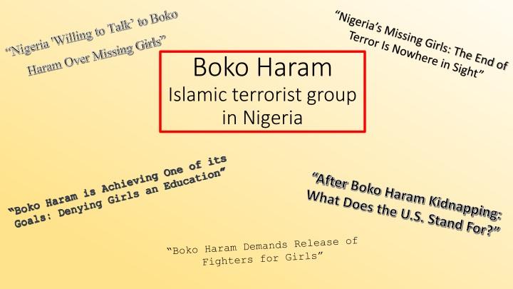 boko haram islamic terrorist group in nigeria n.