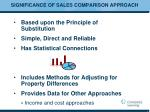 significance of sales comparison approach