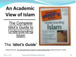 an academic view of islam