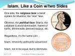 islam like a coin w two sides