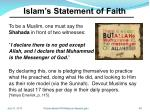 islam s statement of faith