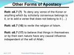 other forms of apostacy