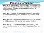 penalties for murder