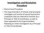 investigation and resolution procedure3