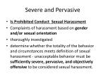 severe and pervasive
