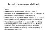 sexual harassment defined1