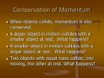 conservation of momentum1