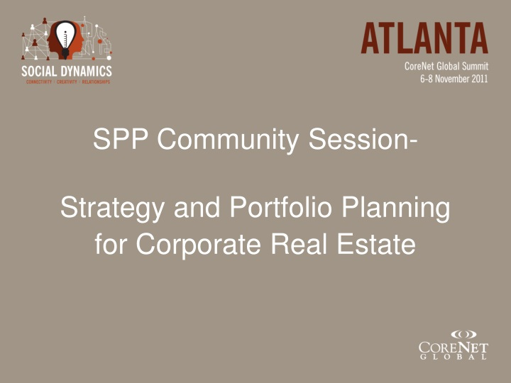 spp community session strategy and portfolio planning for corporate real estate n.