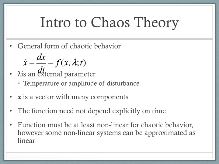 Intro to Chaos Theory