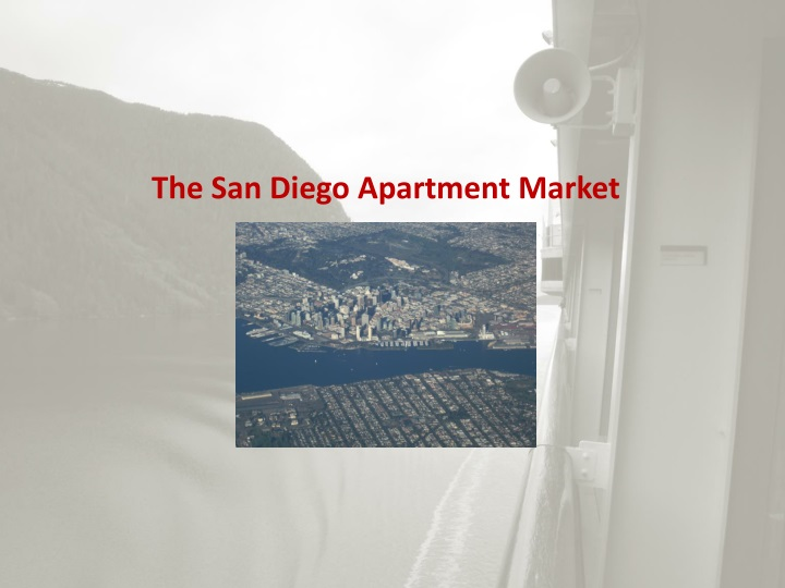 The San Diego Apartment Market