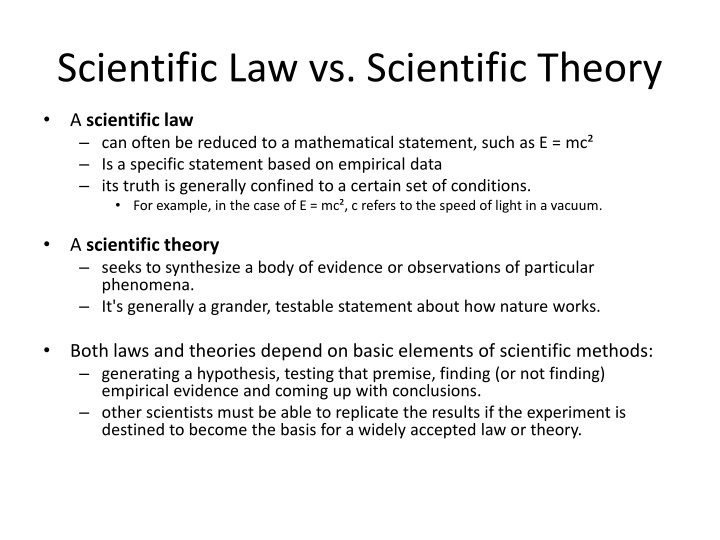 ppt 10 scientific laws and theories you really should know