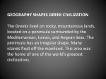 geography shapes greek civilization the greeks