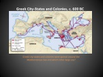 greek city states and colonies c 600 bc