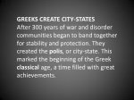 greeks create city states after 300 years