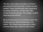 the few small valleys and plains of greece