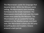 the mycenaeans spoke the language that became