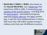 world war ii wwii or ww2 also known as the second
