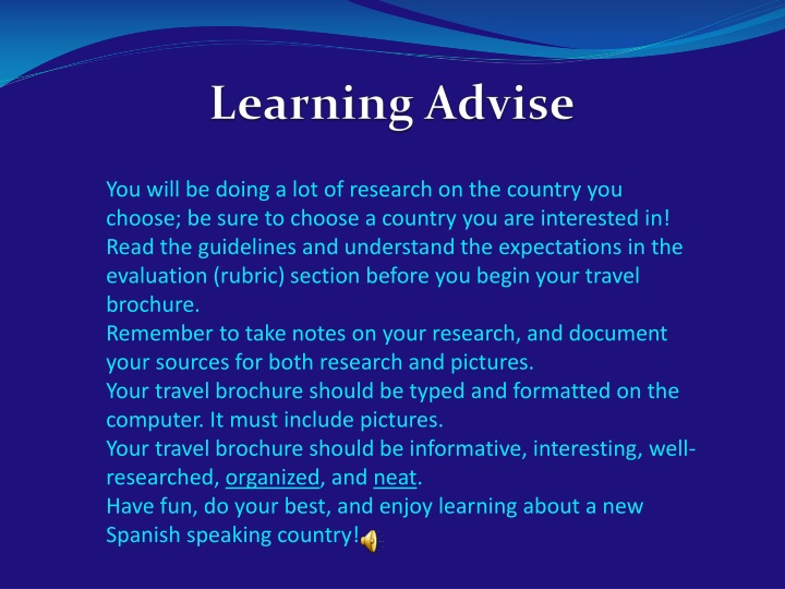 Learning Advise