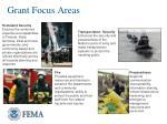 grant focus areas