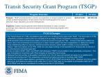 transit security grant program tsgp