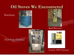 oil stoves we encountered