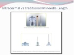 intradermal vs traditional im needle length