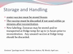 storage and handling