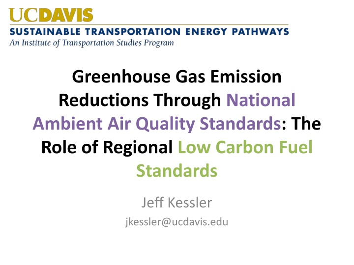 Greenhouse Gas Emission Reductions Through