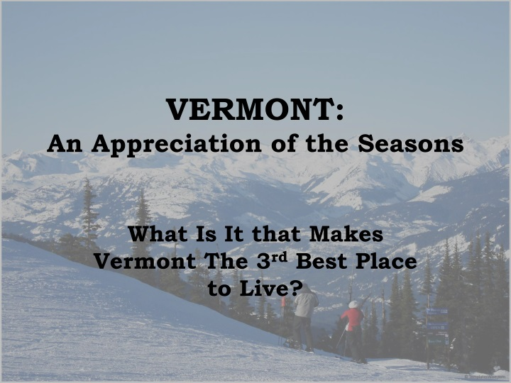 vermont an appreciation of the seasons n.