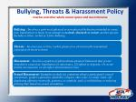 bullying threats harassment policy coaches and other adults cannot ignore and must intervene