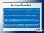 emotional abuse policy