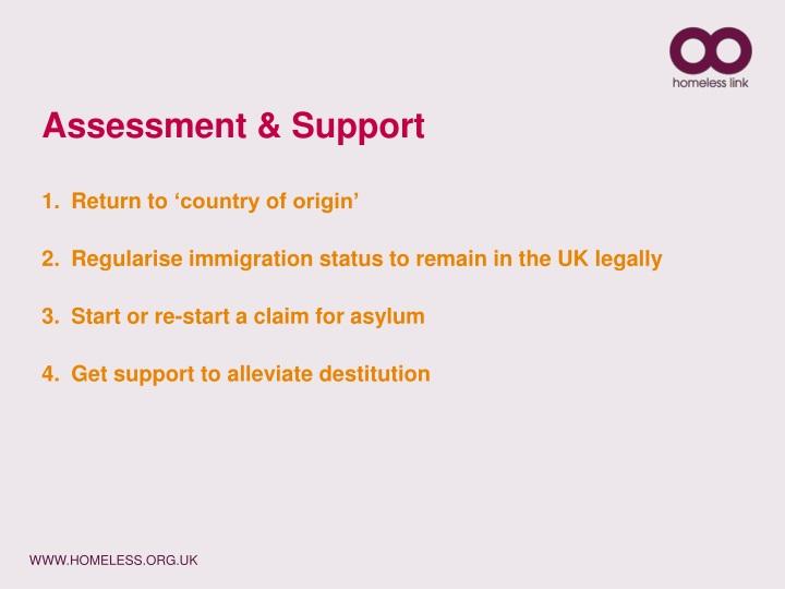 Assessment & Support